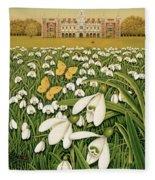 Snowdrop Day, Hatfield House Fleece Blanket