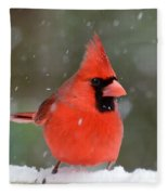 Snowflake Cardinal Fleece Blanket