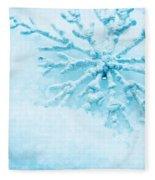 Snowflake In Snow Fleece Blanket