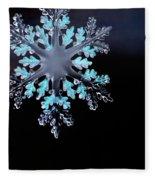 Snowflake In Window 20471 Fleece Blanket