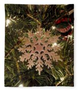Snowflake Ornament Fleece Blanket