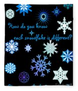 Snowflakes 2 Fleece Blanket