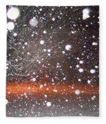 Snowflakes And Orbs Fleece Blanket
