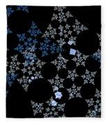 Snowflakes By Jammer Fleece Blanket