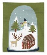 Snowglobe Fleece Blanket