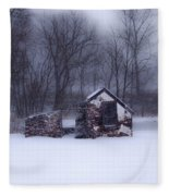 Snowing At Narcissa Road Springhouse Fleece Blanket
