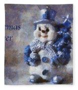 Snowman Christmas Cheer Photo Art 02 Fleece Blanket