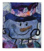Snowman Photo Art 35 Fleece Blanket