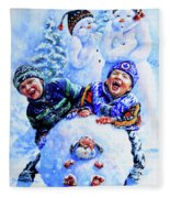 Snowmen Fleece Blanket