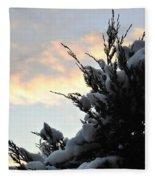 Snowvember Sunrise Fleece Blanket