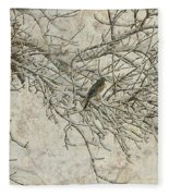 Snowy Bird Fleece Blanket