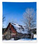 Snowy Cabin Fleece Blanket