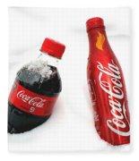 Snowy Coca - Cola Fleece Blanket