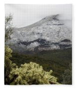 Snowy Desert Mountain 1 Fleece Blanket