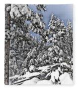 Snowy Dreams  Fleece Blanket