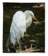 Snowy Egret 2 Fleece Blanket