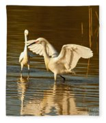 Snowy Egret Wingspan Fleece Blanket