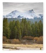 Snowy Fall In Yosemite Fleece Blanket