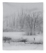 Snowy Fields Fleece Blanket