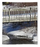 Snowy Foot Bridge Fleece Blanket