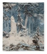 Snowy Forest Fleece Blanket