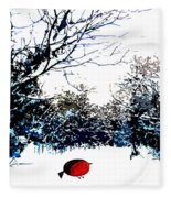 Snowy Forest At Christmas Time Fleece Blanket