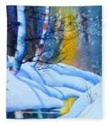 Snowy Forest Fleece Blanket