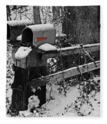 Snowy Mailbox Sc Fleece Blanket