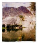 Snowy Mountains Loop 2 Fleece Blanket