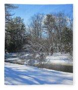 Snowy Otter Brook Fleece Blanket