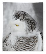 Snowy Owl 2 Fleece Blanket