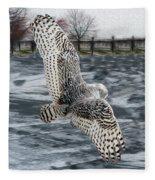 Snowy Owl Wingspan Fleece Blanket