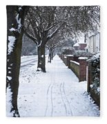 Snowy Path Fleece Blanket