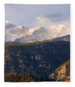 Snowy Pikes Peak Fleece Blanket
