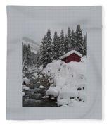 Wyoming Snowy Retreat Fleece Blanket