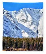 Snowy Ridge Fleece Blanket