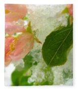Snowy Spring 1 - Digital Painting Effect Fleece Blanket