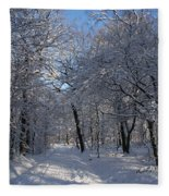 Snowy Trail Fleece Blanket