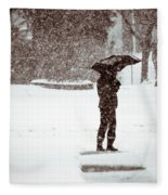 Snowy Walk Fleece Blanket