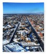 Snowy West Side Winter 2013 Fleece Blanket
