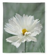 Snowy White Cosmos Fleece Blanket