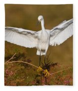 Snowy Wingspread Fleece Blanket