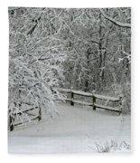 Snowy Winter Fleece Blanket