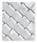 Snowy Wire Netting Fleece Blanket
