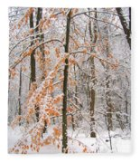 Snowy Woods Fleece Blanket