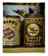 Snuff Tins Fleece Blanket