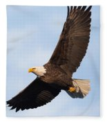 Soaring American Bald Eagle Fleece Blanket