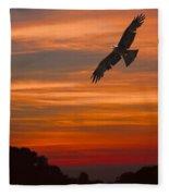Soaring Bird Of Prey Fleece Blanket