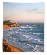 Socal Coastline Sunset Fleece Blanket