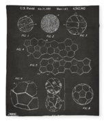 Soccer Ball Construction Artwork - Gray Fleece Blanket